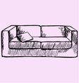 sofa pillow vector image vector image