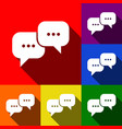 Speech bubbles sign set of icons with
