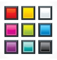 Square empty buttons vector image vector image
