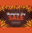 thanksgiving day sale online shop template vector image