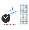 Time Fireworks Charge Icon vector image