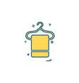 towel icon design vector image