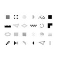 trendy geometric shapes set for logo billboard vector image vector image