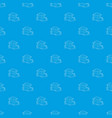 tropical house pattern seamless blue vector image vector image