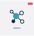 two color molecule icon from science concept vector image vector image