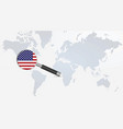 usa flag in magnifying glass vector image