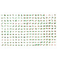 very big collection of flags of the burundi vector image