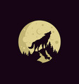 vintage wolf logo template vector image vector image