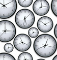 Watches seamless background vector image vector image
