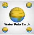 water polo earth logo for team and cup vector image vector image