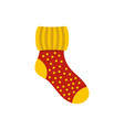 woolen sock icon flat style vector image vector image