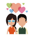 young couple love romantic vector image