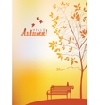 autumn landscape with trees vector image