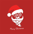 stylized image of santa claus vector image