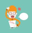Tax bill cartoon business vector image