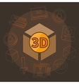 3D printing vector image vector image