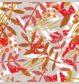 abstract botanical seamless pattern with foliage vector image vector image