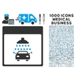 Automobile Shower Calendar Page Icon With 1000 vector image vector image