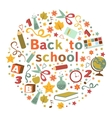 Back to school colorful composition vector image