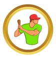 Baseball player with bat icon vector image vector image