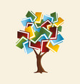 book tree concept for global education vector image vector image