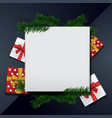 boxing day background frame blank template vector image vector image