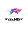 bull gradient modern logo vector image vector image