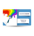 business card for painting with a roller vector image vector image