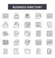 business directory line icons signs set vector image vector image