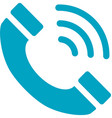 business networking telephone icon vector image vector image