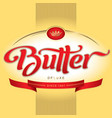 butter packaging design vector image vector image