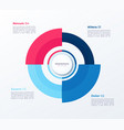 circle chart design modern template for vector image vector image