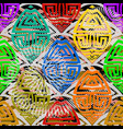 colorful abstract geometric greek seamless vector image vector image