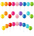 colorful balloons set isolated white background vector image vector image