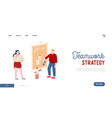company brainstorm in office website landing page vector image