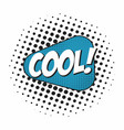 cool comic book sound effect speech bubble in pop vector image vector image