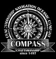 corporate logo with compass retro vector image vector image