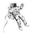 cosmonaut or astronaut in spacesuit vector image vector image