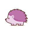 cute little hedgehog cartoon comic character with vector image vector image