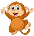 Cute monkey cartoon thumb up vector | Price: 3 Credits (USD $3)
