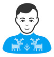 deers pullover boy flat icon vector image