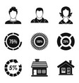 disciple icons set simple style vector image vector image