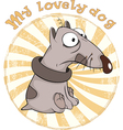 Dog Badge Cartoon vector image vector image