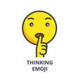 dreaming emoji line icon sig vector image vector image
