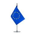 european union flag hanging on the metallic pole vector image