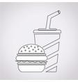 fast food icon drink icon vector image