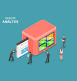 flat isometric concept website data vector image vector image