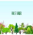 Fotest border trees sketch vector image vector image