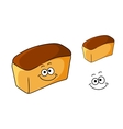 Fresh happy loaf of white bread vector image vector image