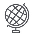 globe line icon earth and world geography sign vector image vector image
